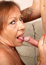 Horny Old Lady Getting A Belly Full Of Cum From Her Toyboy