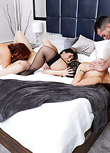Three Mature Nymphos Sharing One Hard Rocking Cock
