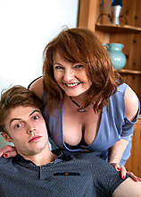 Milf Lady Ava Is Popping Her Stepsons Cherry On The Couch